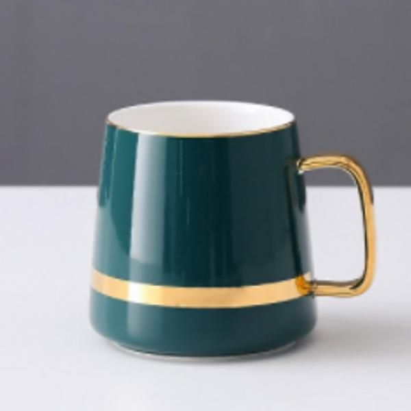 Ceramic Mug with Golden Design Household Products Drinkwares New Products HDC1071-DGN