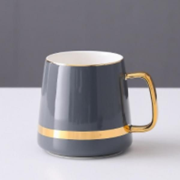 Ceramic Mug with Golden Design Household Products Drinkwares New Products HDC1071-GRY