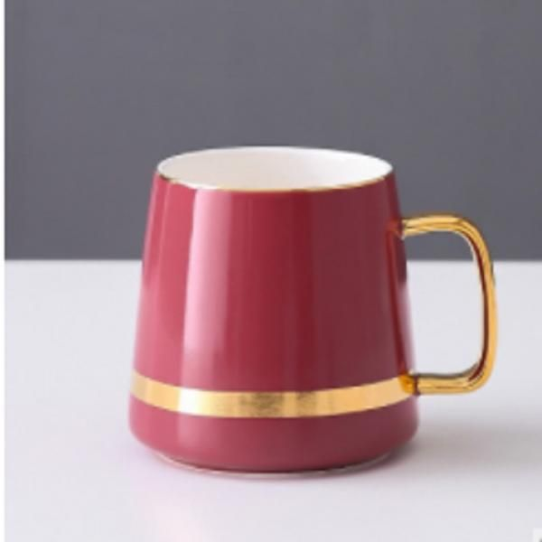 Ceramic Mug with Golden Design Household Products Drinkwares New Products HDC1071-MRN