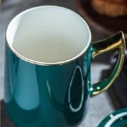 Ceramic Mug with Golden Handle Household Products Drinkwares New Products HDC1074-DGN