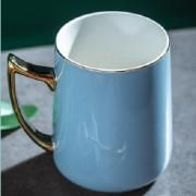 Ceramic Mug with Golden Handle Household Products Drinkwares New Products HDC1074-LBU