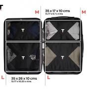 Taskin Compression Packing Cubes Set of 4 Shoe Pouch Bags New Products TSP1128-BLK