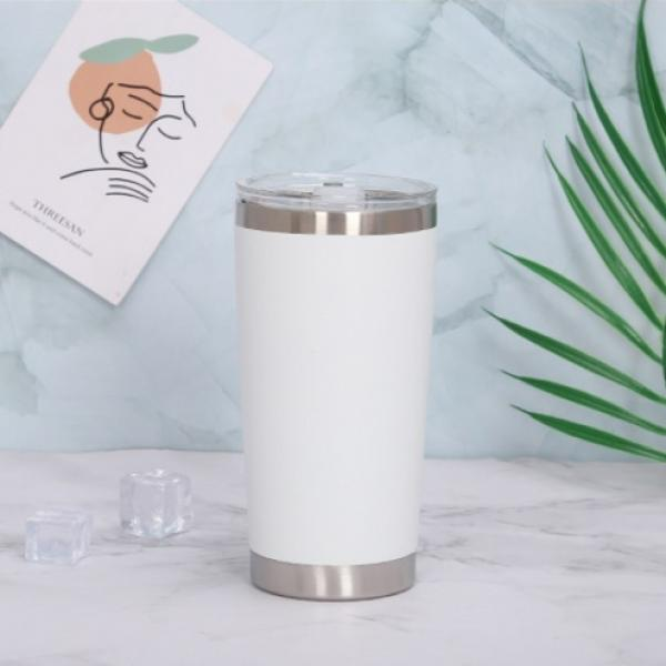 Stainless Steel Travel Tumbler Household Products Drinkwares New Products HDT1023-WHT