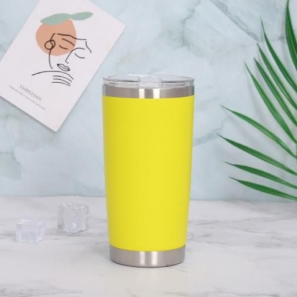 Stainless Steel Travel Tumbler Household Products Drinkwares New Products HDT1023-YLW