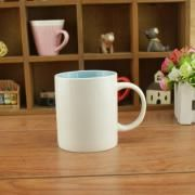 Dual Color Silkscreen Ceramic Mug Household Products Drinkwares New Products HDC1077-WWB
