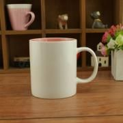 Dual Color Silkscreen Ceramic Mug Household Products Drinkwares New Products HDC1077-WWP