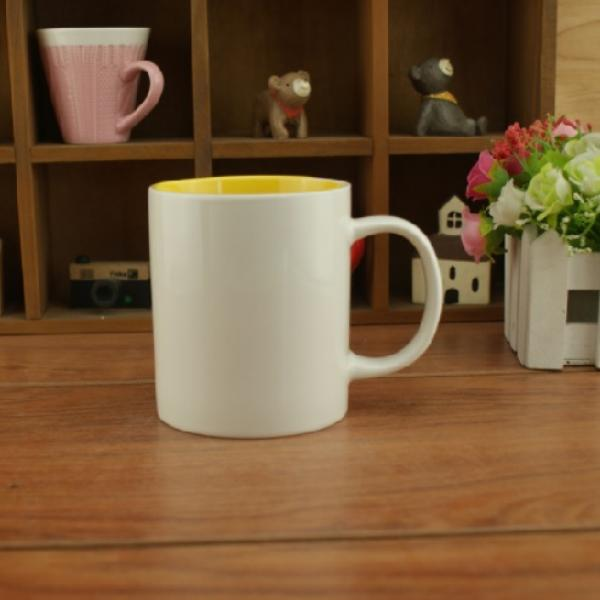 Dual Color Silkscreen Ceramic Mug Household Products Drinkwares New Products HDC1077-WYL