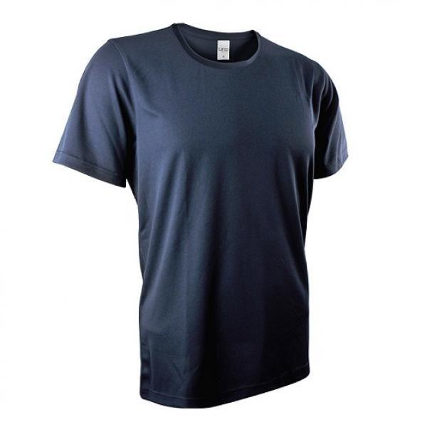 UB03R UNO Fresco Quick Dry Round Neck Tee Apparel Shirts UB03R_Navy-blue