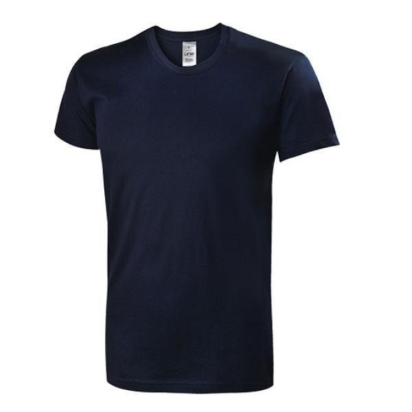 UB07R UNO Primo Cotton Round Neck T-Shirt Apparel Shirts NavyBlue-Front