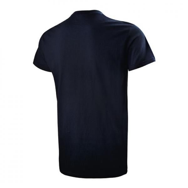 UB07R UNO Primo Cotton Round Neck T-Shirt Apparel Shirts NavyBlue-Back