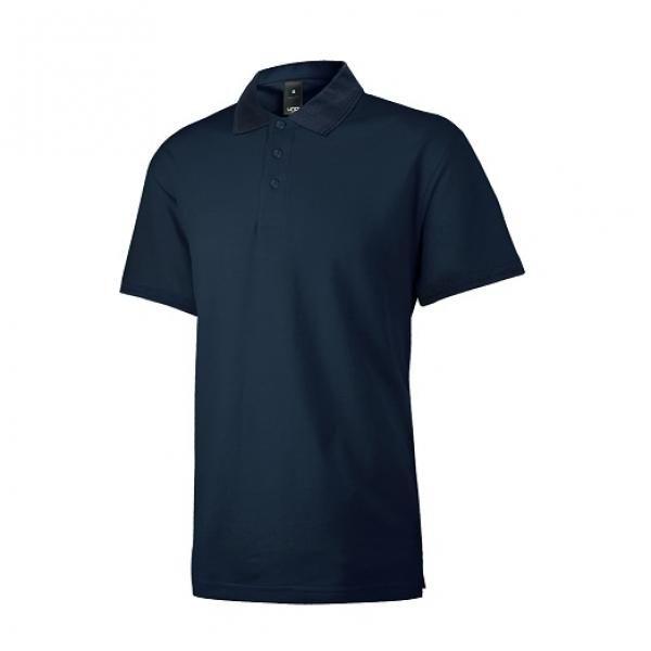 UB08P UNO Supremo CVC Polo Tee Apparel Shirts supremo-navyblue