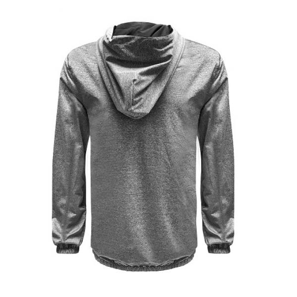 UJ10R UNO Reverso Hoodie Jacket Apparel Jacket 3Grey-Black-Back