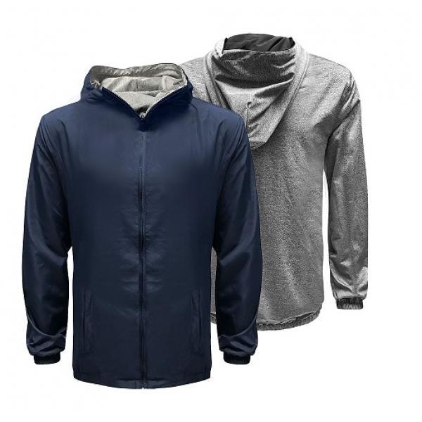 UJ10R UNO Reverso Hoodie Jacket Apparel Jacket uj10r-navy-blue