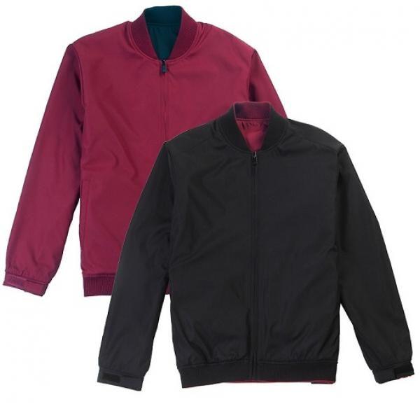 UJ05B UNO Doppio Reversible Jacket Apparel Jacket UJ05B-Black-Maroon