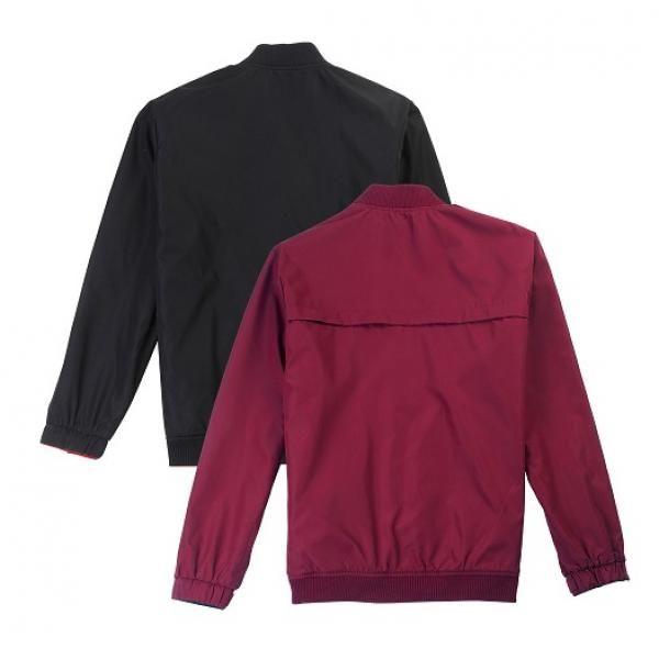 UJ05B UNO Doppio Reversible Jacket Apparel Jacket UJ05B-Black-Maroon-Back