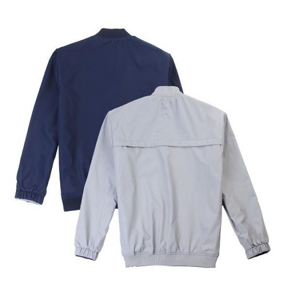 UJ05B UNO Doppio Reversible Jacket Apparel Jacket UJ05B-Navy-Grey-Back