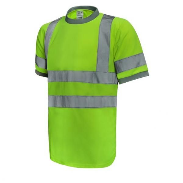 UR01R UNO Reflective Round Neck Apparel Other Green_Front