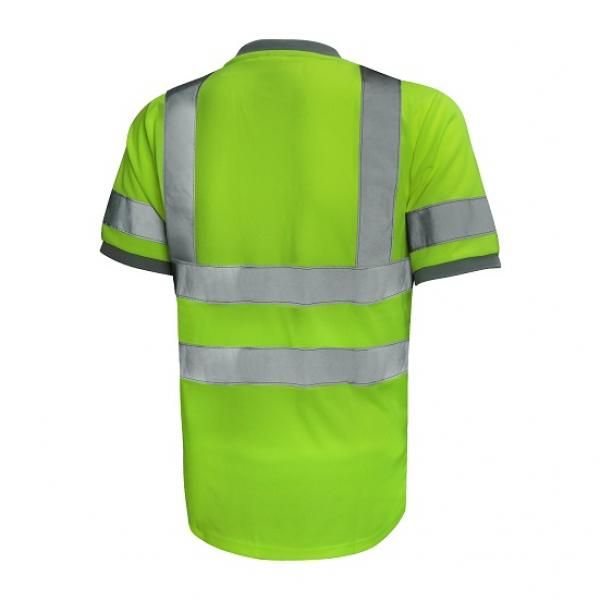 UR01R UNO Reflective Round Neck Apparel Other Green_Back