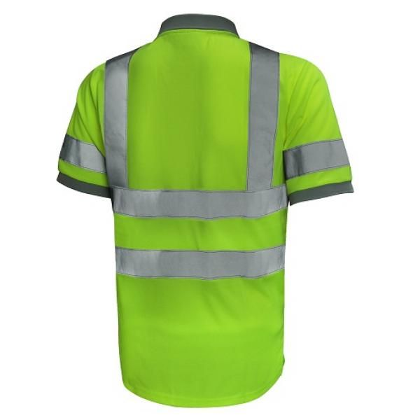 UR02P UNO Reflective Polo Apparel Other Green_Back