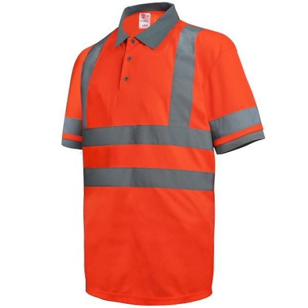UR02P UNO Reflective Polo Apparel Other Orange_Front