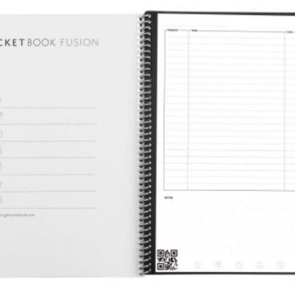 Rocketbook Fusion - Executive (Scarlet Sky) Office Supplies Notebooks / Notepads Notebooks / Notepads New Arrivals ZNO10496
