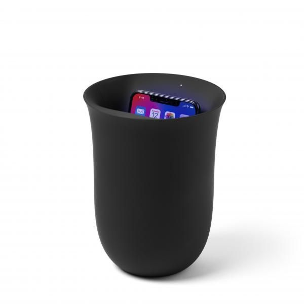 OBLIO Wireless charging w/ built-in UV sanitizer New Arrivals Personal Protective Equipment (PPE) EMP1086-BLK-LX-01