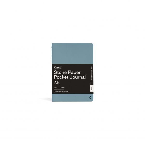 Karst A6 Pocket Journal  Office Supplies Notebooks / Notepads Other Office Supplies Karst-A6-Pocket-Journal-Cover-Bellyband-Glacier-LR