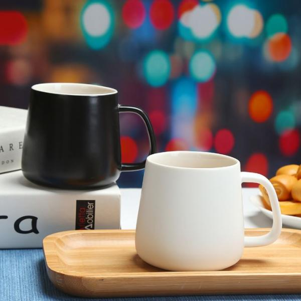 Minimalist Ceramic Mug with Lid & Spoon Household Products Drinkwares New Arrivals 4