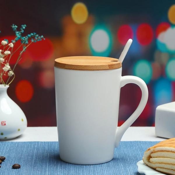 Minimalist Ceramic Mug with Wooden Lid & Spoon Household Products Drinkwares New Arrivals 5