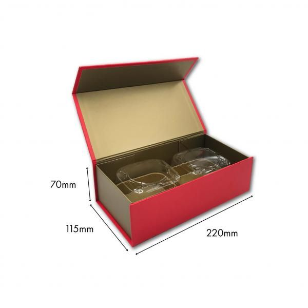 Small Magnetic Mooncake Box New Arrivals Festive Products Food & Catering Packaging Others Food Packaging RedGold-2pcsCollapsibleBox