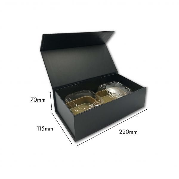 Small Magnetic Mooncake Box New Arrivals Festive Products Food & Catering Packaging Others Food Packaging Black-2pcsCollapsibleBox