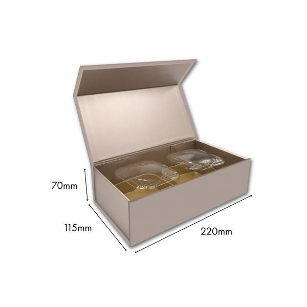Small Magnetic Mooncake Box New Arrivals Festive Products Food & Catering Packaging Others Food Packaging Silver-2pcsCollapsibleBox