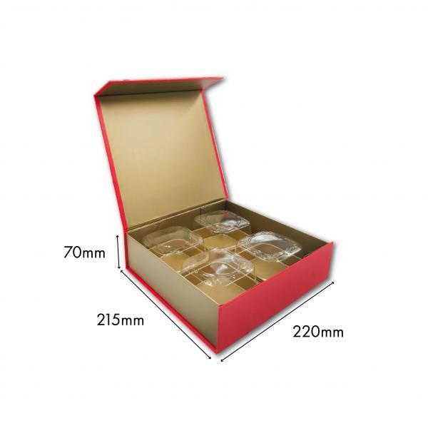 Large Magnetic Mooncake Box New Arrivals Festive Products Food & Catering Packaging Others Food Packaging RedGold-4pcsCollapsibleBox