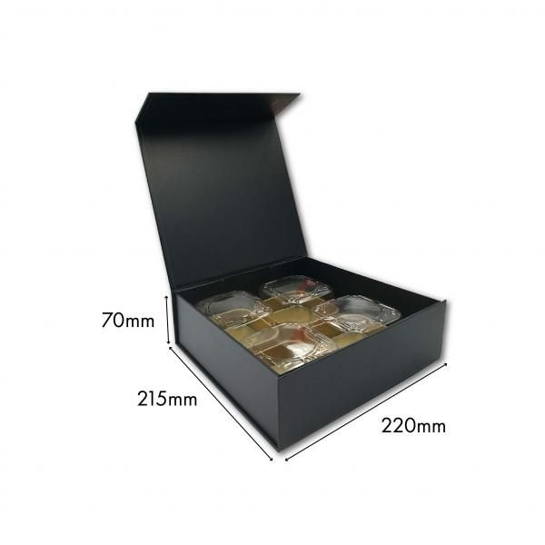 Large Magnetic Mooncake Box New Arrivals Festive Products Food & Catering Packaging Others Food Packaging Black-4pcsCollapsibleBox