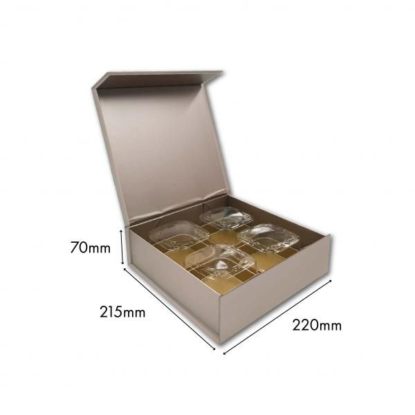 Large Magnetic Mooncake Box New Arrivals Festive Products Food & Catering Packaging Others Food Packaging Silver-4pcsCollapsibleBox