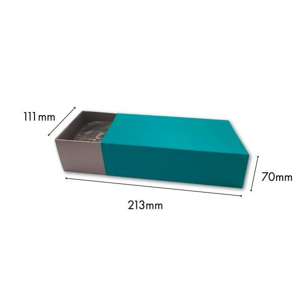 Small Drawer Mooncake Box New Arrivals Festive Products Food & Catering Packaging Others Food Packaging TuorqiseSilver-2pcsDrawerBox