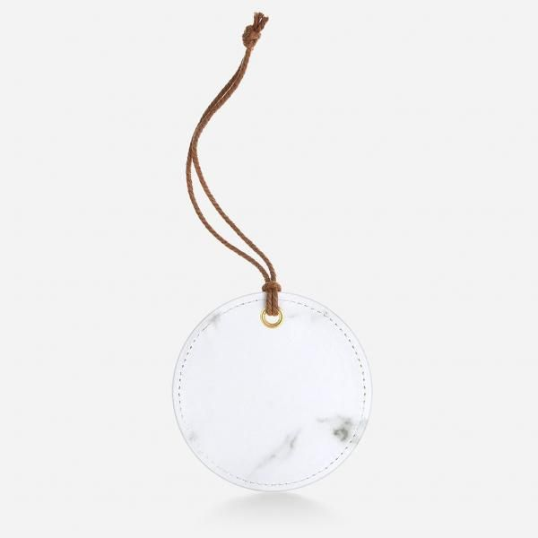 Circular Luggage Tag - White Travel & Outdoor Accessories Luggage Related Products Productview21675