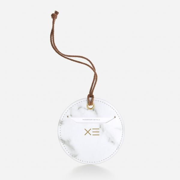 Circular Luggage Tag - White Travel & Outdoor Accessories Luggage Related Products Productview31675