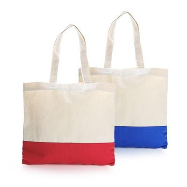 Apdox Two - Tone Canvas Tote Bag Tote Bag / Non-Woven Bag Bags NATIONAL DAY Eco Friendly TNW1020-GRP