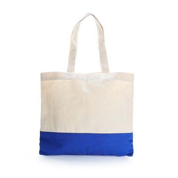 Apdox Two - Tone Canvas Tote Bag Tote Bag / Non-Woven Bag Bags NATIONAL DAY Eco Friendly TNW1020-BLU