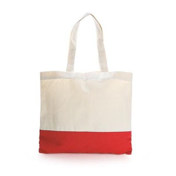 Apdox Two - Tone Canvas Tote Bag Tote Bag / Non-Woven Bag Bags NATIONAL DAY Eco Friendly TNW1020-RED