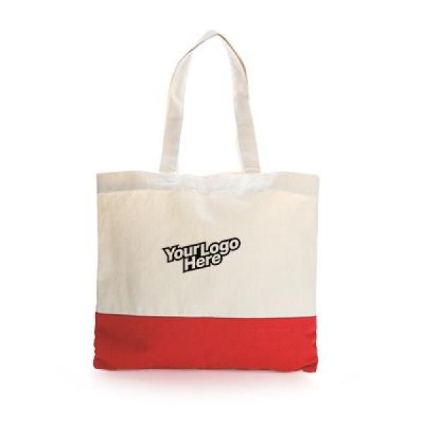 Apdox Two - Tone Canvas Tote Bag Tote Bag / Non-Woven Bag Bags NATIONAL DAY Eco Friendly TNW1020-RED_2