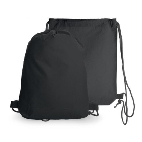 Drawstring Cotton Bag Drawstring Bag Bags TDS1005-BLK