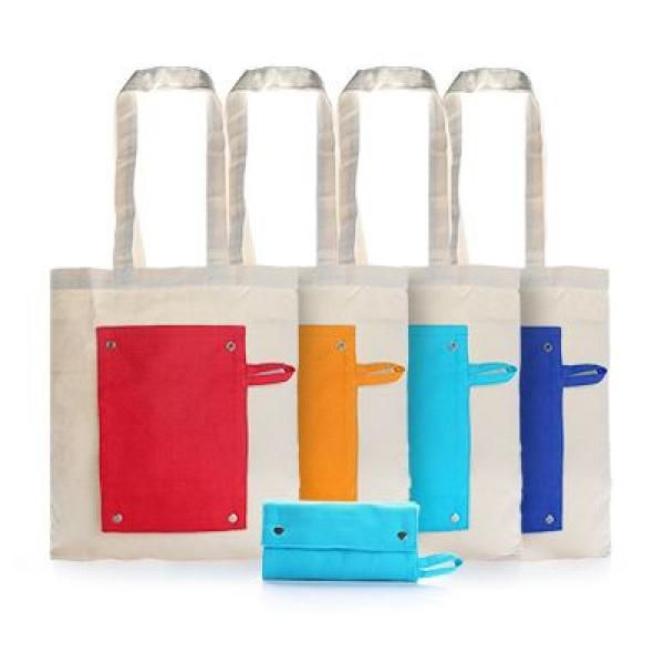 Foldable Canvas Tote Bag Tote Bag / Non-Woven Bag Bags TNW1021-GRP
