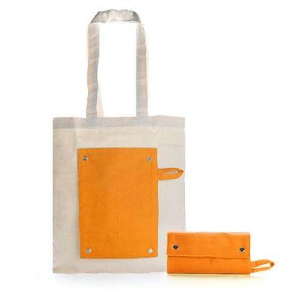 Foldable Canvas Tote Bag Tote Bag / Non-Woven Bag Bags TNW1021-ORG