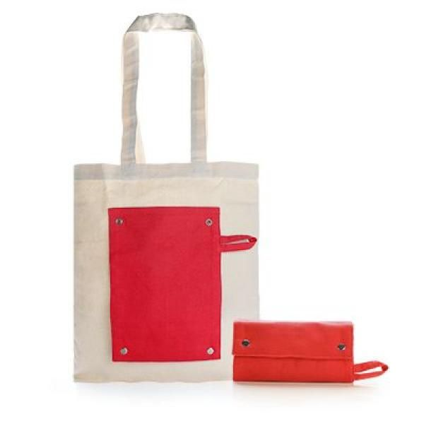 Foldable Canvas Tote Bag Tote Bag / Non-Woven Bag Bags TNW1021-RED