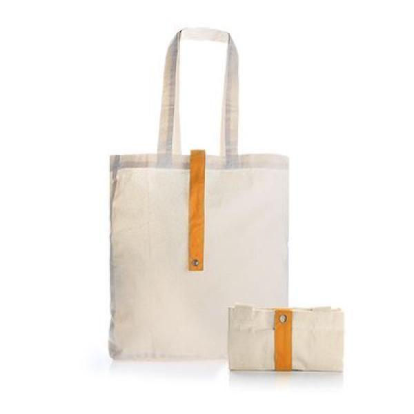 Foldable Cotton Tote Bag Tote Bag / Non-Woven Bag Bags RACIAL HARMONY DAY TNW1024ORG