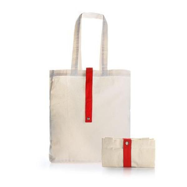 Foldable Cotton Tote Bag Tote Bag / Non-Woven Bag Bags RACIAL HARMONY DAY TNW1024RED