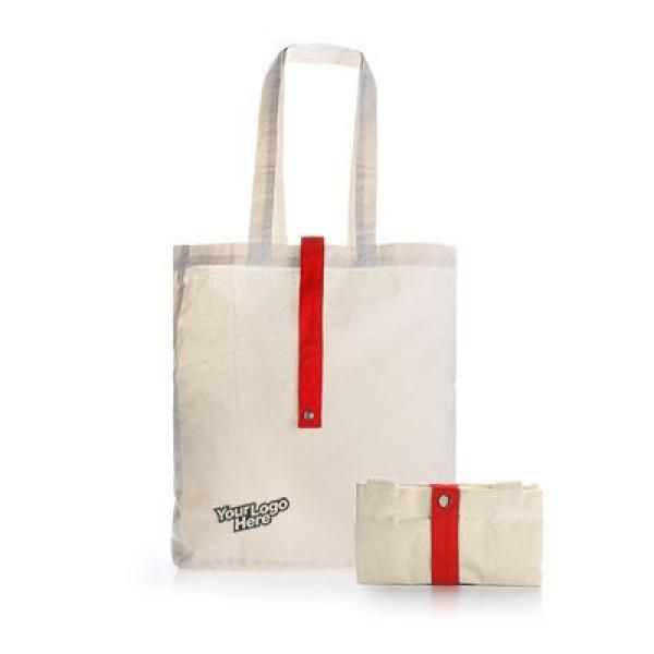 Foldable Cotton Tote Bag Tote Bag / Non-Woven Bag Bags RACIAL HARMONY DAY TNW1024RED_2