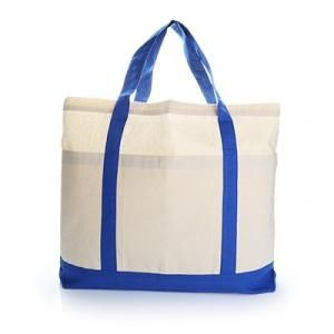 Voltrax Two - Tone Cotton Blue Tote Bag Tote Bag / Non-Woven Bag Bags Best Deals TNW1022